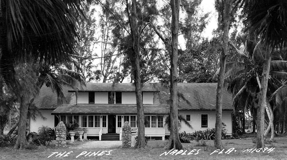 "George Hendrie's home ""The Pines"" located across the street from Palm Cottage on 12th Avenue South, c. 1939"