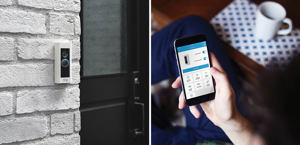 The Ring™ Video Doorbell Pro is easy to monitor with your smart phone and you can keep track of who is at the door while at work or traveling.