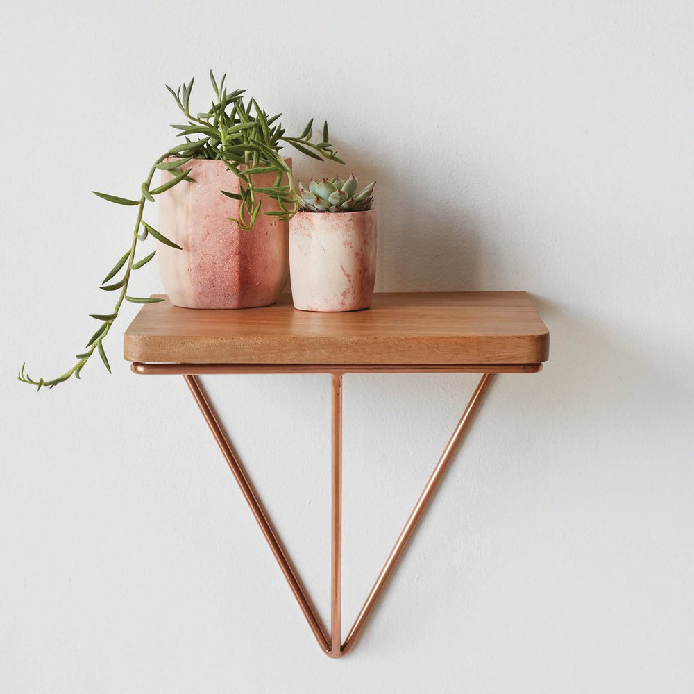 Londres floating table in copper, from $295;   the-citizenry.com