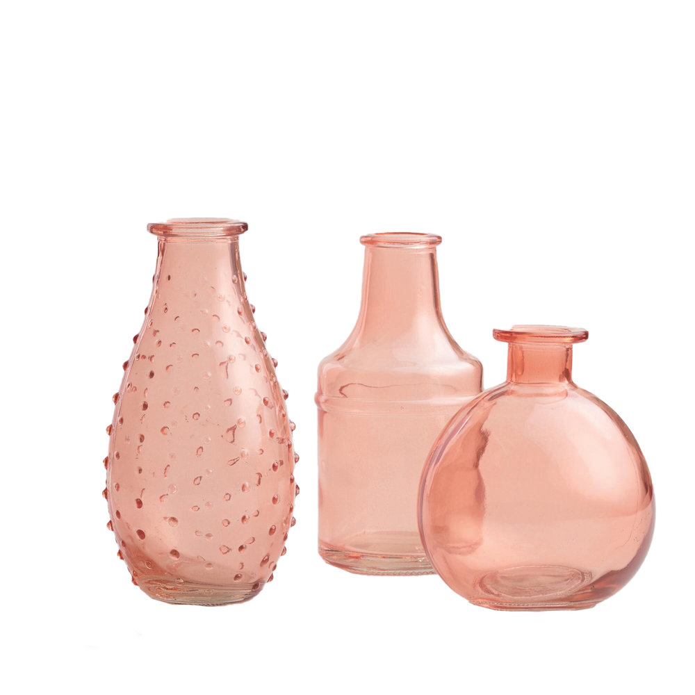 coral glass bud vases set of 3, 5.97 world market.jpg