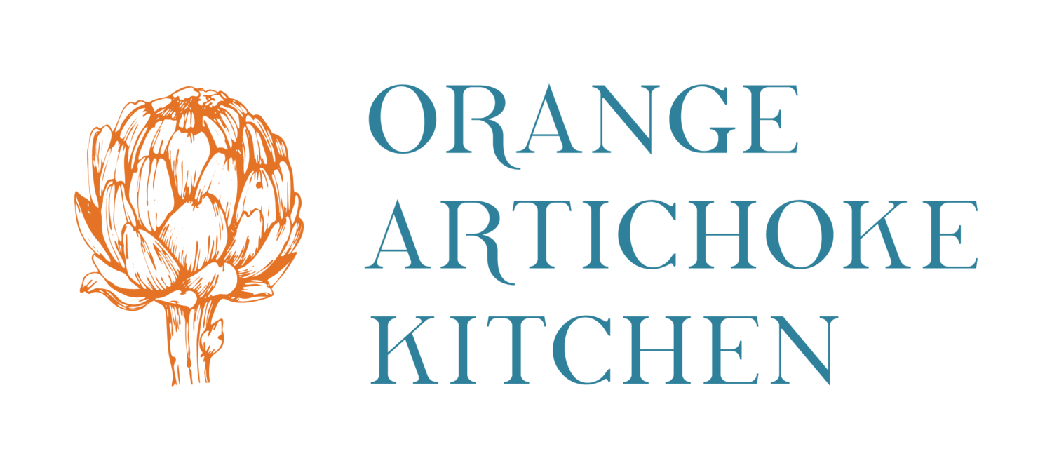 Orange Artichoke Kitchen