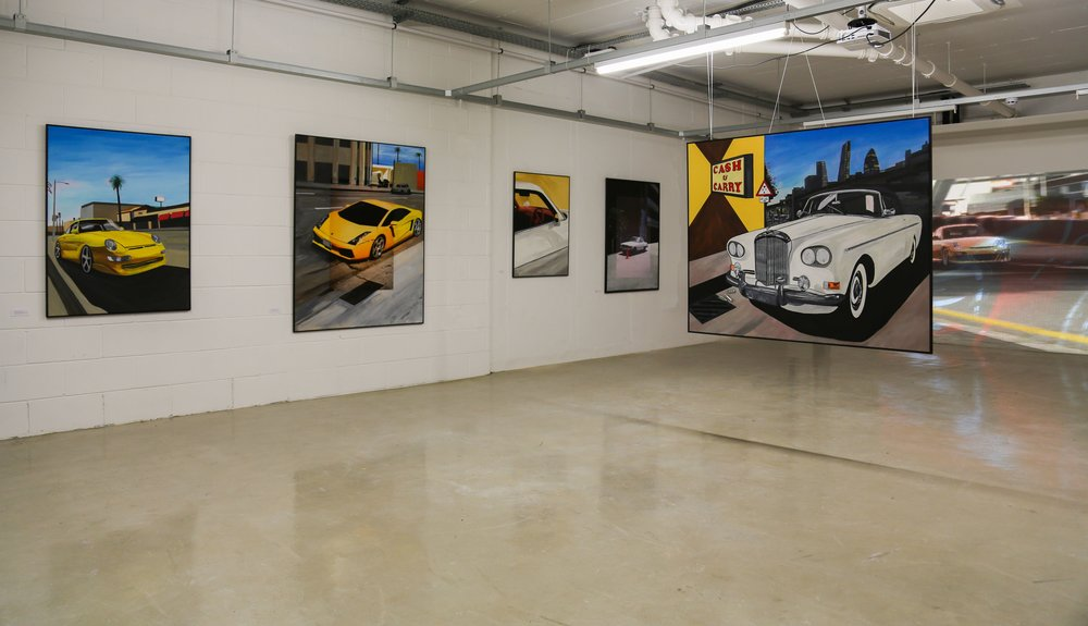 Install view of solo show: CARS