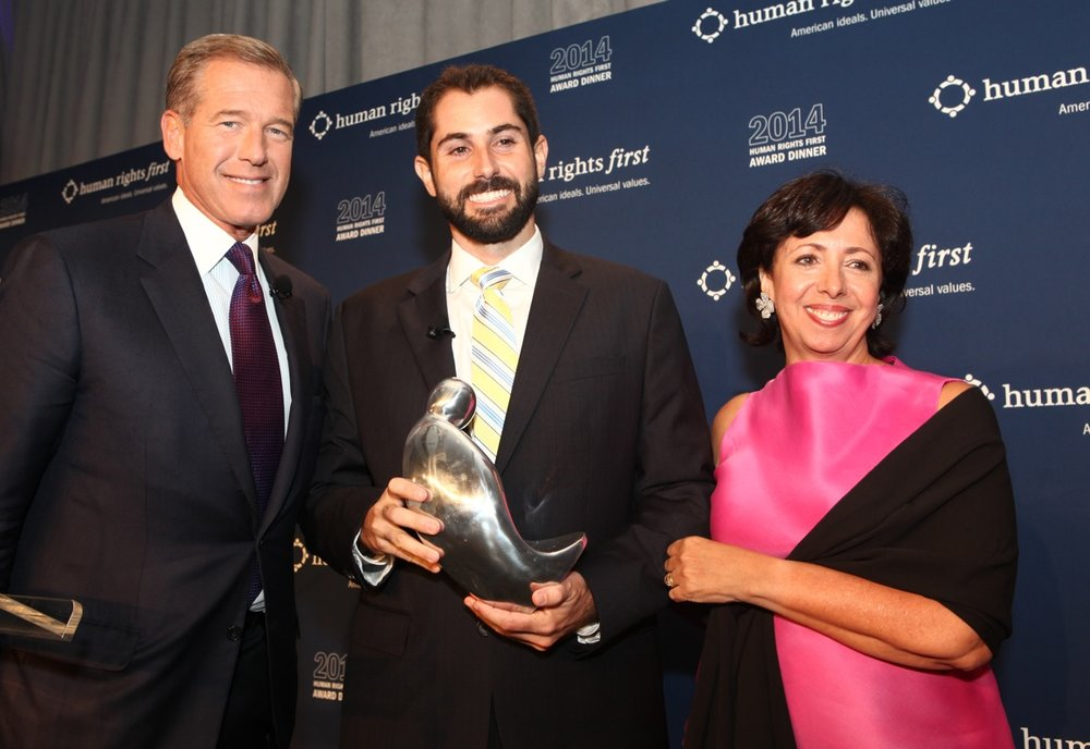 ( Pictured: Brian Williams, Ryan Boyette, and Elisa Massimino )