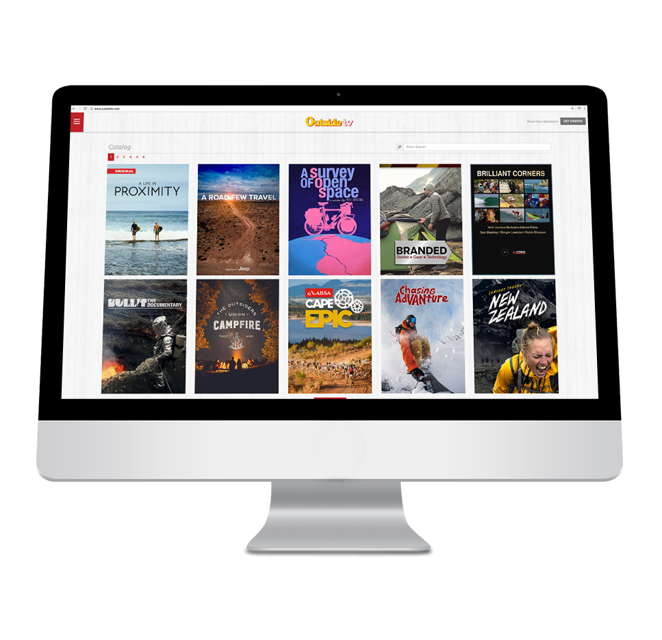 - Growing Digital LibraryOutside TV's digital library is comprised of over 6,000+ premium, short form, adventure sports videos; which include webisodic shorts from our award winning broadcast shows, exclusive digital series and the best 3rd party videos the adventure sports catagory