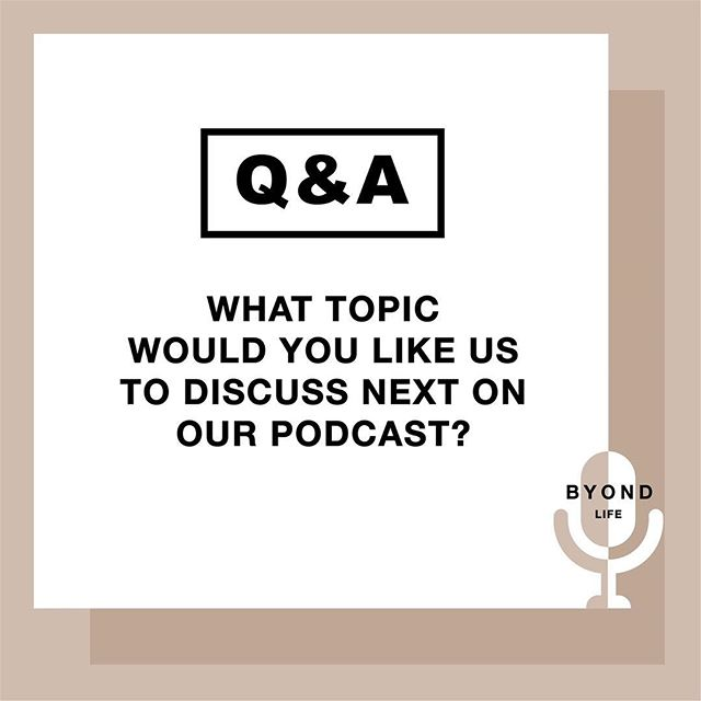 What should we talk about next?  Comment Below! 🤩 #Byond #ByondLife #Podcast