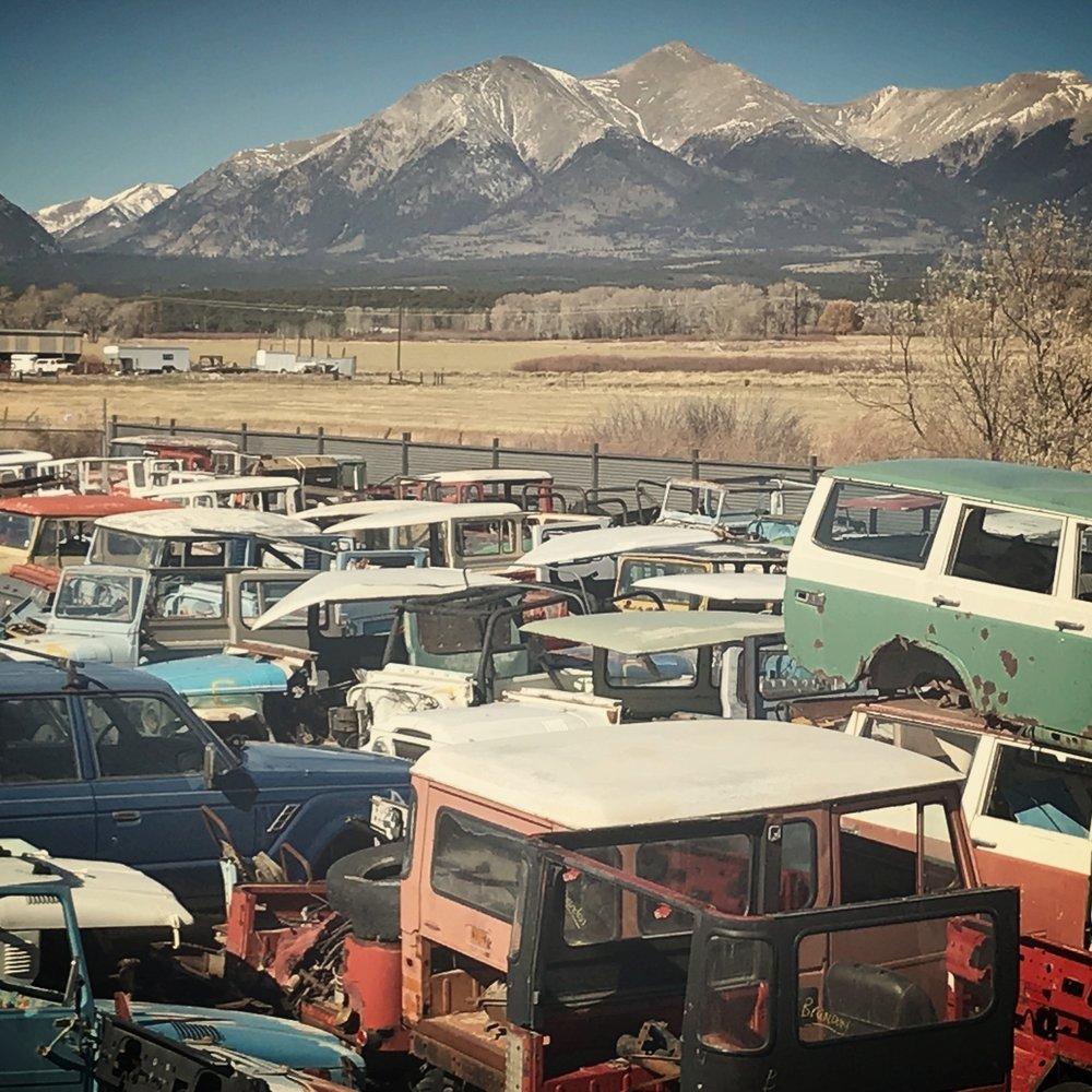 We have over 250 Toyota fj40, fj43, fj55, fj60, fj62, fj80, fzj80 land Cruisers in our Salvage yard ranging from 1962 - 1997