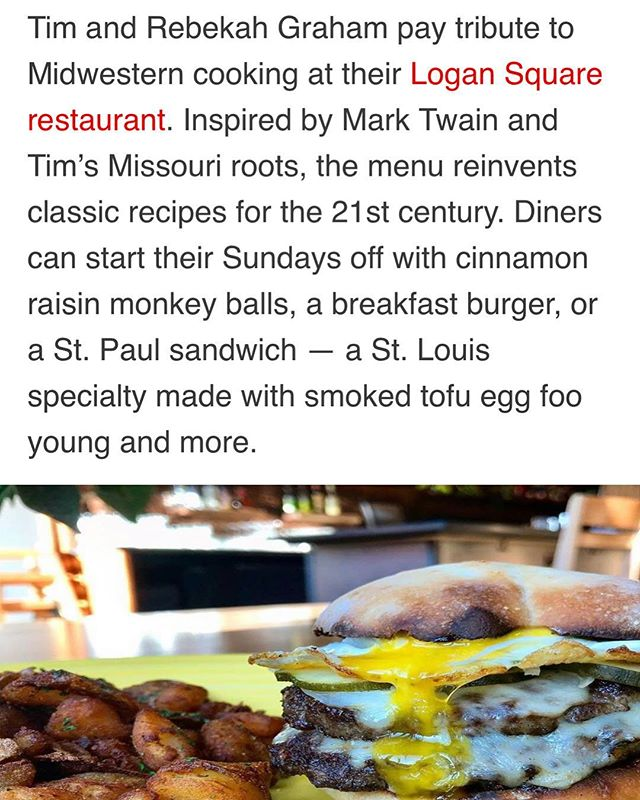 Thanks so much to @jmai11 and @eater_chicago for noticing! It's all true what they say, Brunch is awesome here!