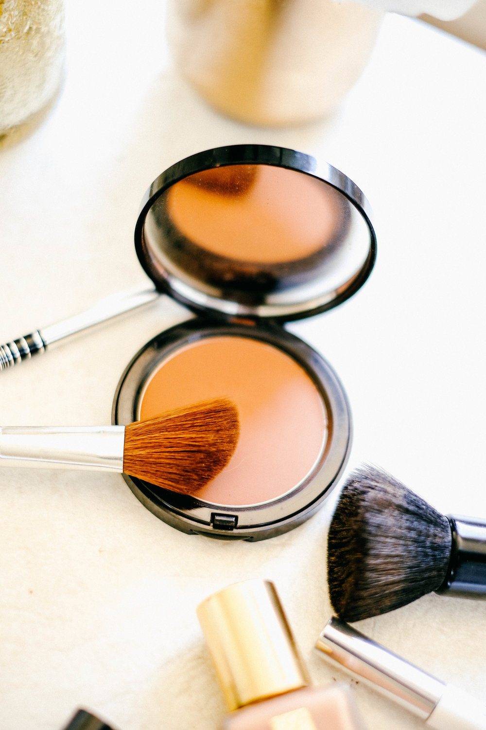 Next, I like to apply this Bobbi Brown bronzer to contour my face. I apply contour to the hollows of my cheeks, the sides of my forehead and the size of my nose. I like to contour as it just gives that extra definition and shapes the structure of my face.