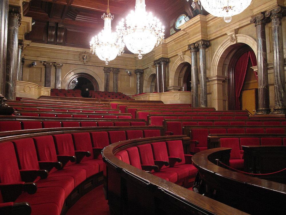 Hemiciclo del Parlament de Catalunya. Foto: Enfo.