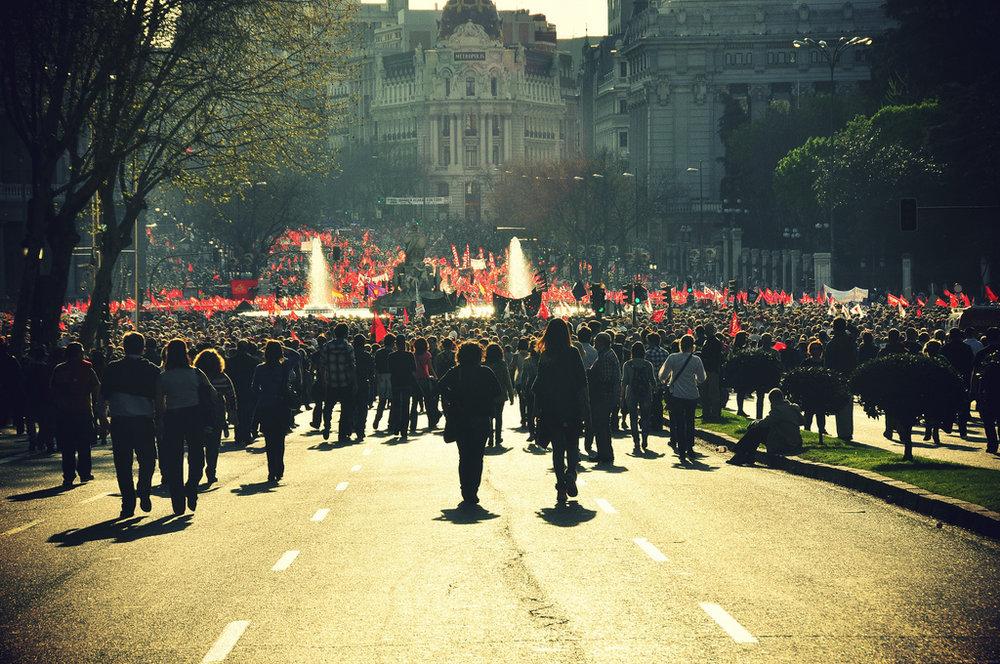 Huelga general, 29 de marzo de 2012, Madrid. Foto:  Mar Coll del Tarré .