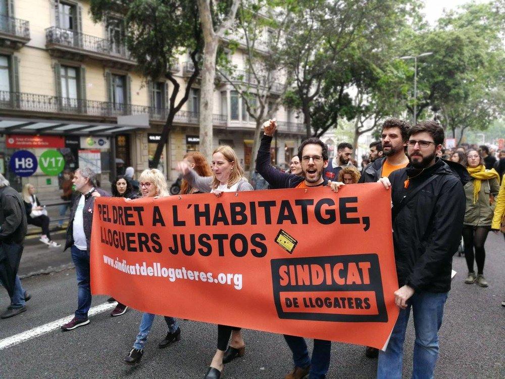 Miembros del  Sindicat de Llogaters i Llogateres.  Foto: archivo.