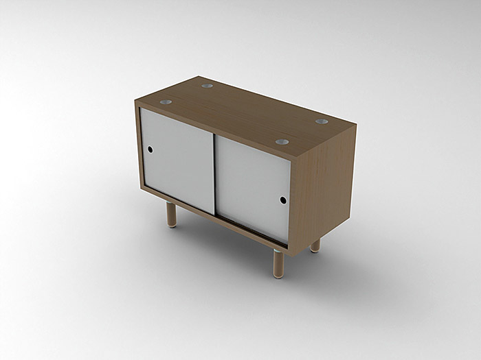 SolidWorks Render of AC06 Stacking Cabinets