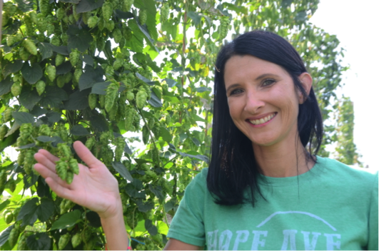 Lacy Mason, past program participant, carved out a new hops business on her family's corn and soybean farm.