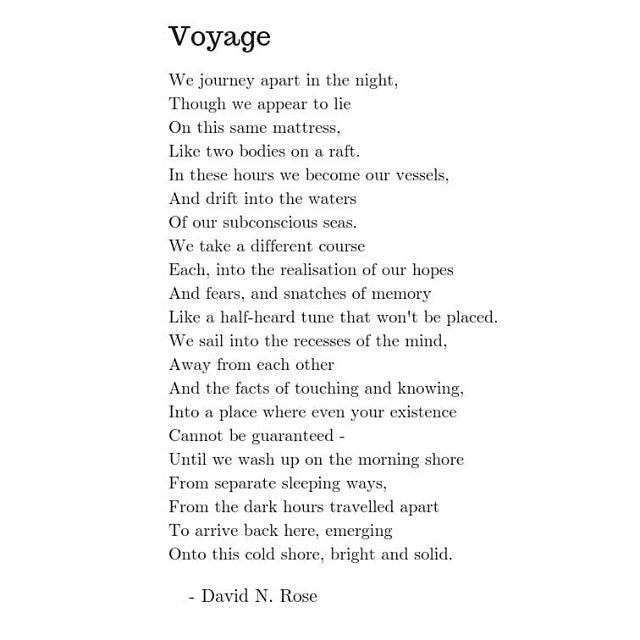 More poems at https://www.realrose.site/poetry #voyage #sleep #poem #poetry #writing #realrose #poetsofinstagram