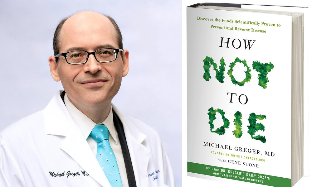 Dr. Michael Greger offers videos, podcasts and a blog with articles focused on nutrition. Click on the photo to follow the link.