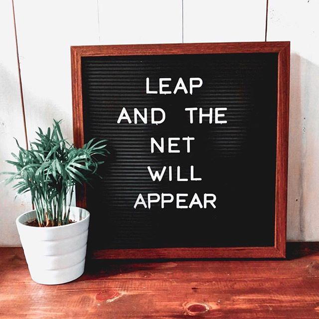 Not stressing about the future of our projects, successes, and failures is easier said than done. But ain't this the truth! We learn from experience, and you can't REALLY know how something is going to go until you jump full force into it! Photo from @brandmerrycoaching 💫
