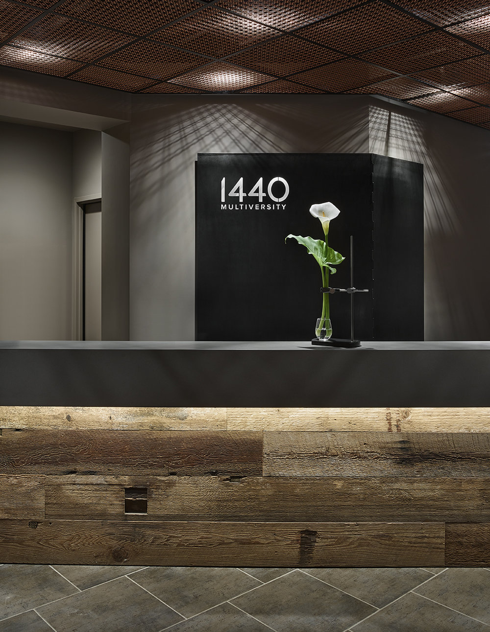 Table Mount at 1440 Reception desk