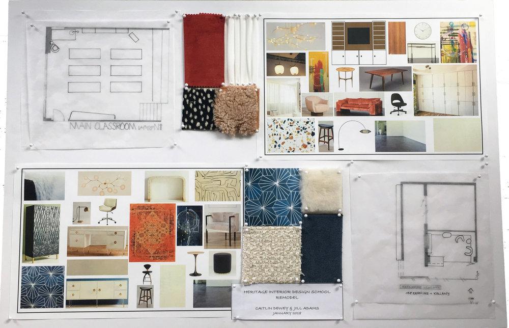 Heritage School Remodel Board & Presentation Boards u2014 Interior Design Portfolio