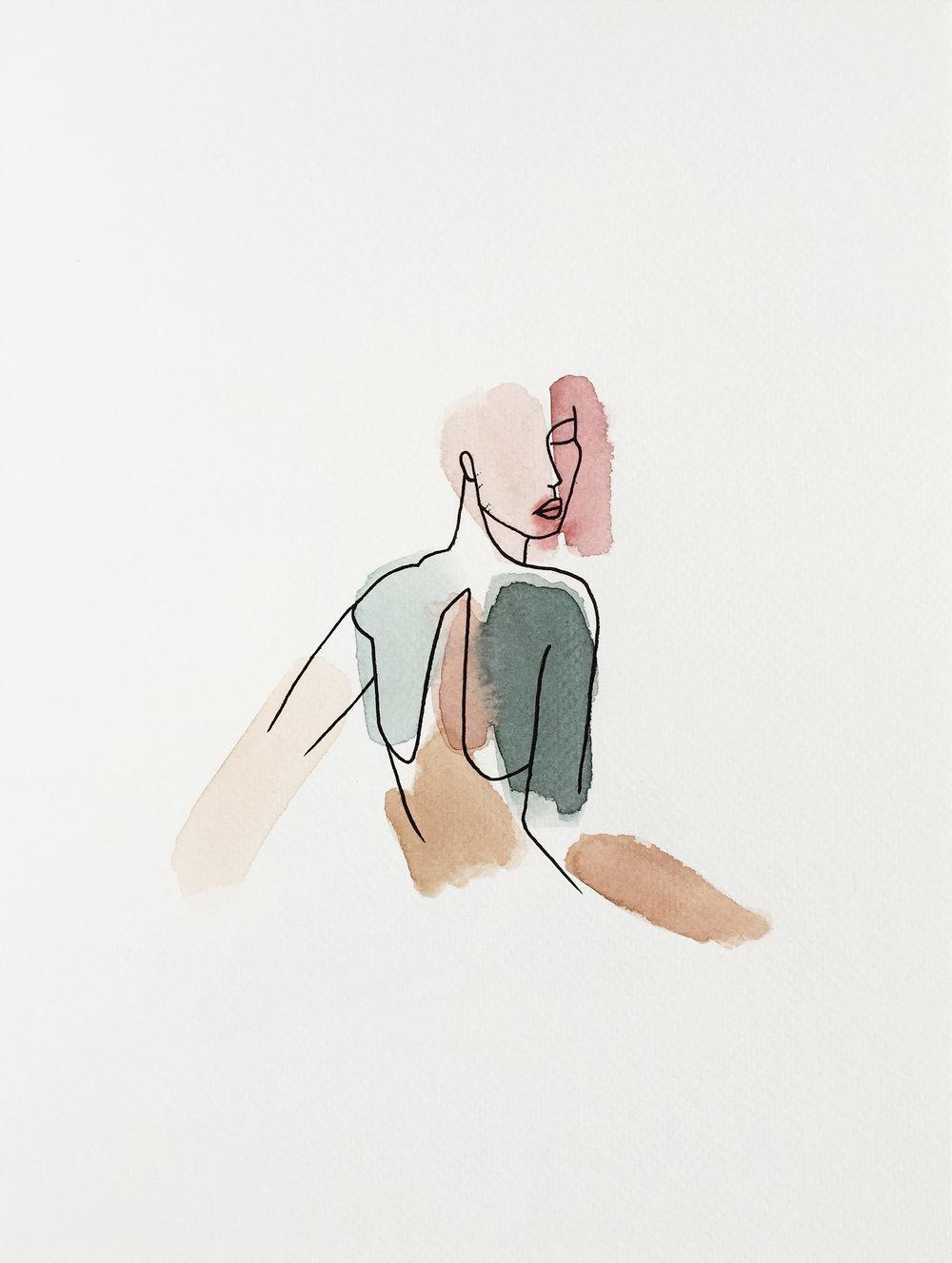 Vendu - Mujer de Lot 9x12''