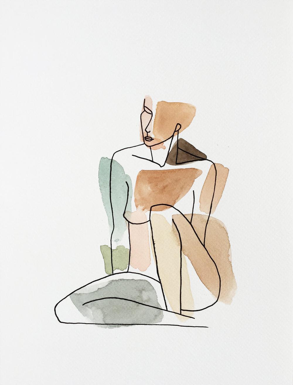 Vendu - Sentada 9x12''