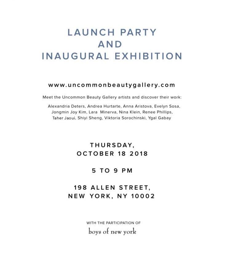 Uncommon Beauty gallerie invitation
