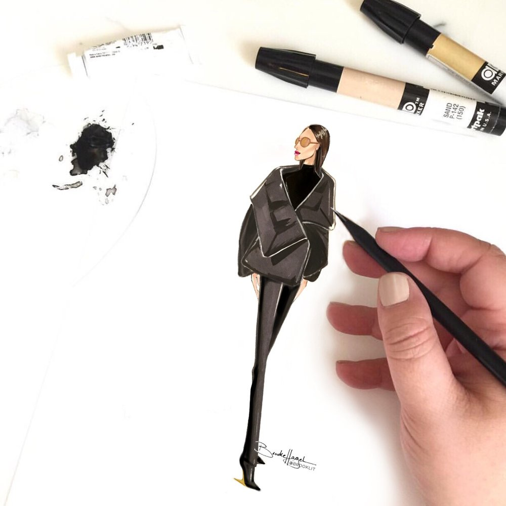 Salvatore Ferragamo   In-store live-sketching Ferragamo runway pieces at private parties and shopping events.