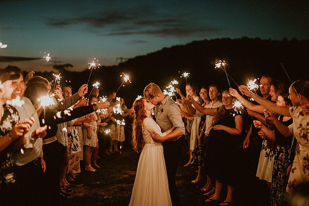 A sparkler exit at last light was the perfect way to send these two off to happily ever after.