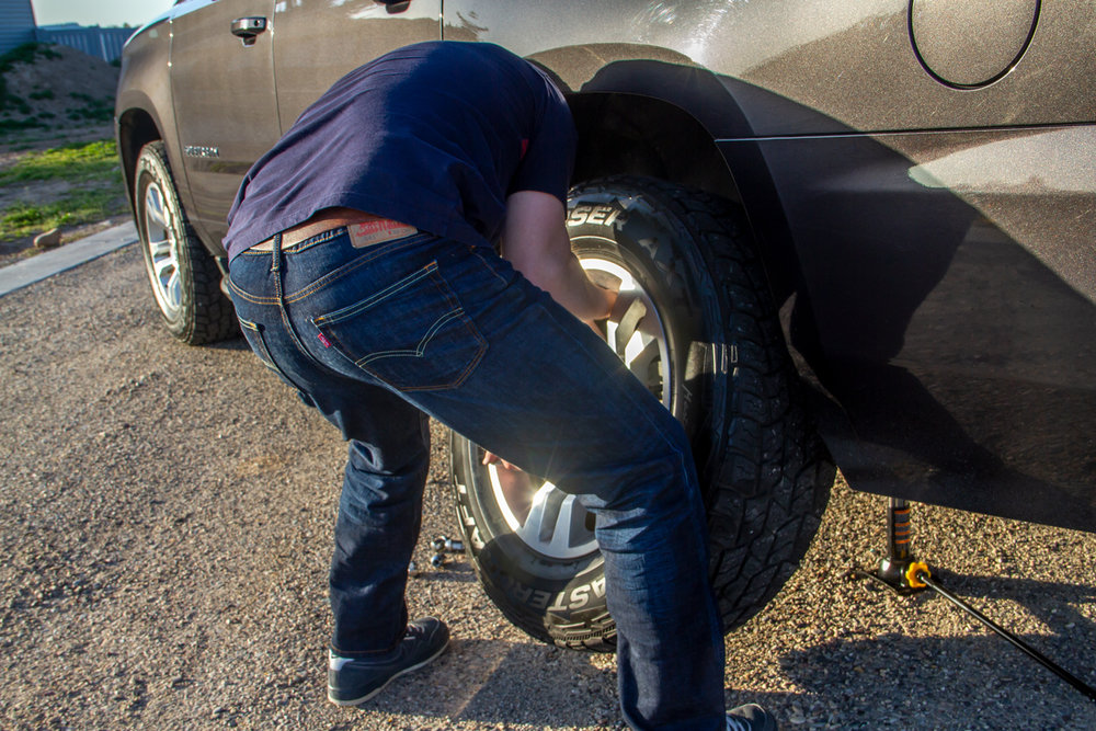 Back Strain - Lifting tires is a heavy, awkward thing to do. Depending on your vehicle, tires can weigh anywhere from 40 to 100+ pounds! Save yourself the strained back, pulled muscles, and frustration by using WheelGuider to easily lift and slide your tire onto your vehicle.
