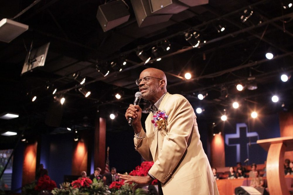 Bishop Noel Jones gives his keynote address.