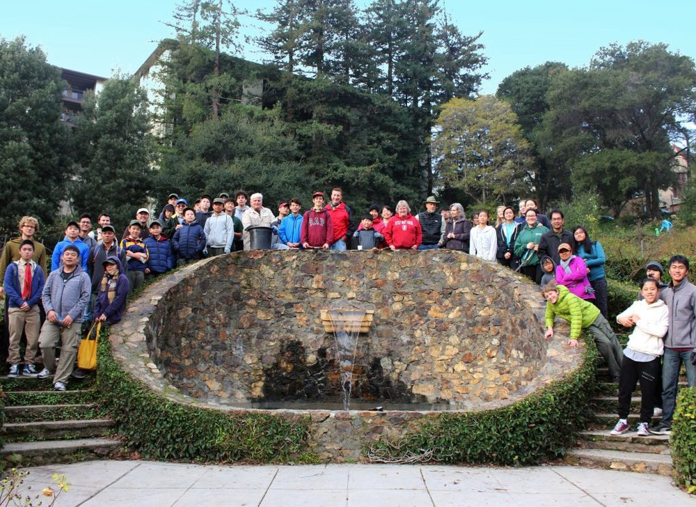 Group photo of the BAFC volunteers at the Oakland Rose Garden.