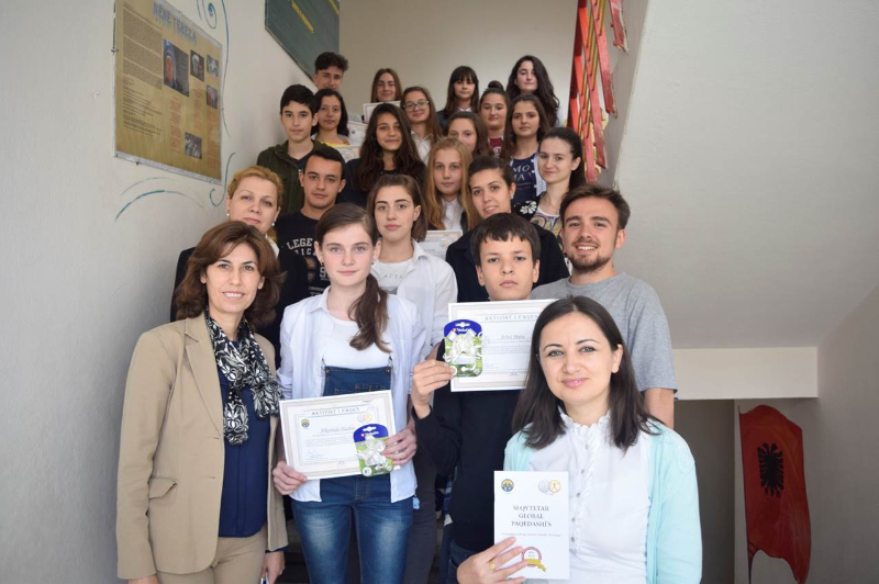 """These are the students and administrators of the essay writing competition based on Father Moon's autobiography, """"As A Peace-Loving Global Citizen."""""""
