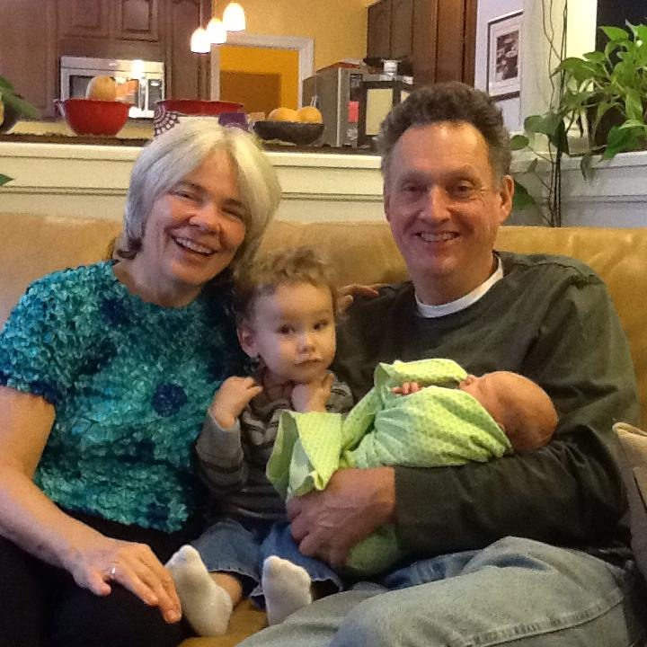 Chad and his wife, Ann, enjoying time with their grandchildren.
