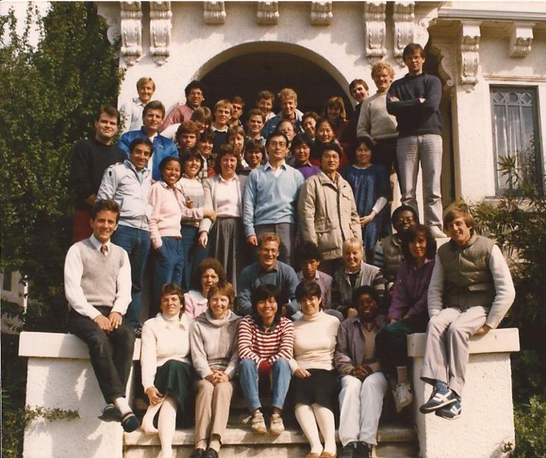 Jack (bottom left corner) at the CARP Center in Berkeley, California