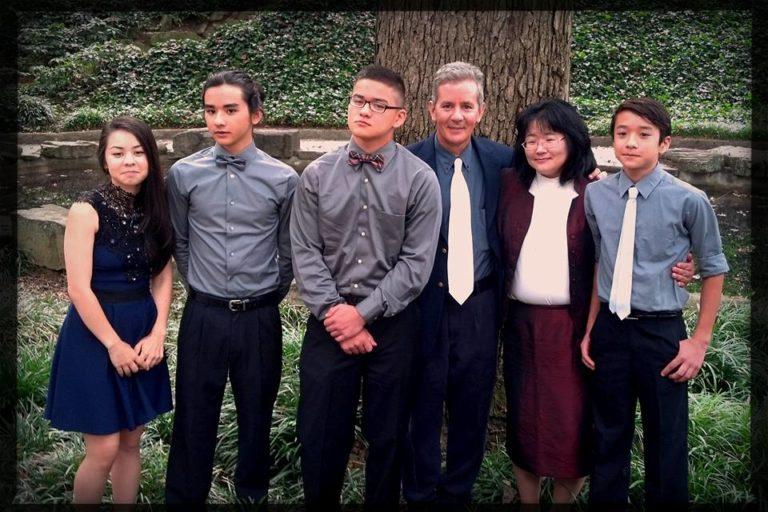 The Whedbee clan: Soon-Mi, Jacob, Yuki, Jack, Yukari, and Josh