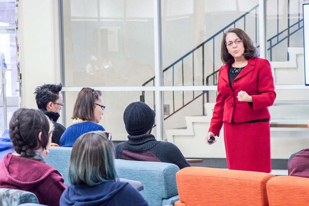 Professor Ianniallo shares her story of being in college for 11 years and becoming a Communications professor.