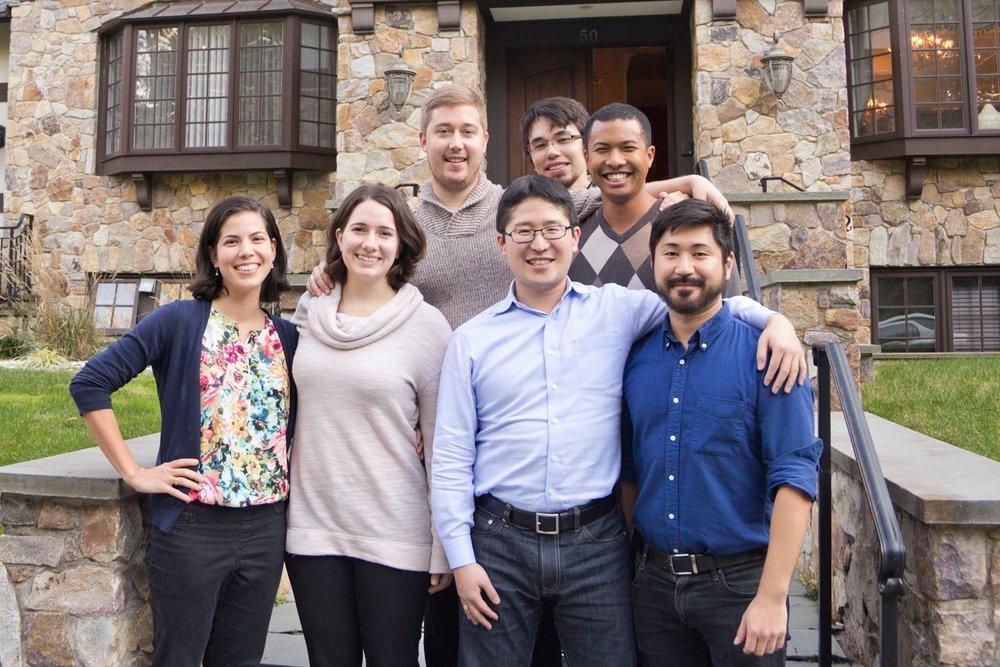 The CARP staff in 2016. In the back, Neil (left), Justin, David. In the front, Nina (left), Teresa, Naokimi, Taka.