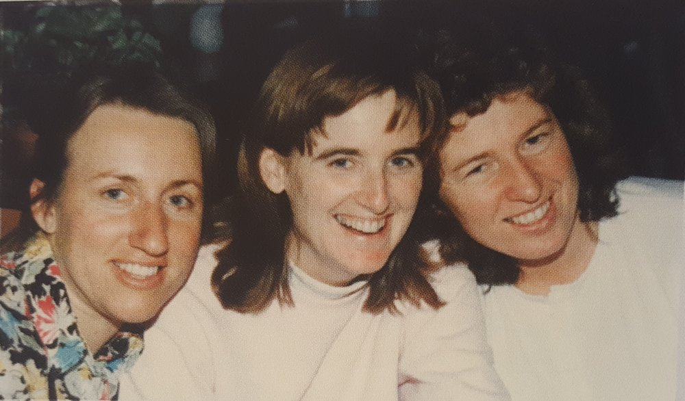 Christine (center) with Carol Durnan and Jacinta Krefft.