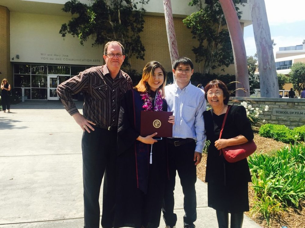 Jennifer and her family at her commencement ceremony, May 16, 2016.