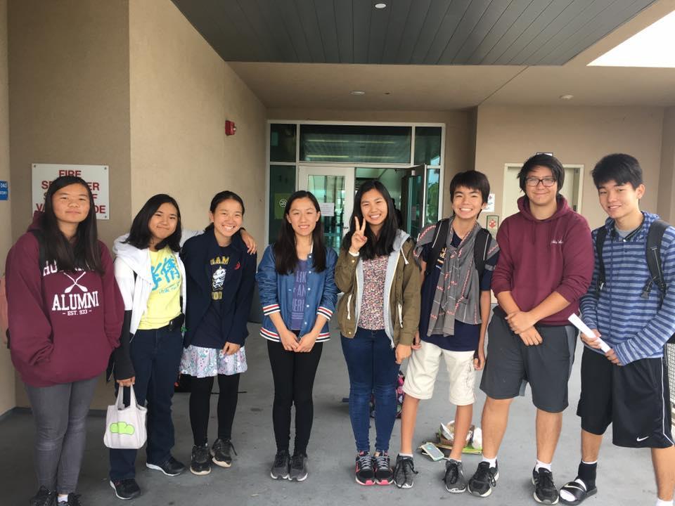 HARP AHS members (L to R): Euna Tengan, Maika Kotani, Kayun Hiraki, Joanne Fu, Naomi Kotani, Masato Shigeta, Yoshihito Takagi, Hiroto Shigeta.
