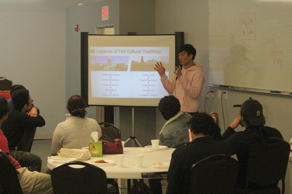 CARP North Lake President Woojin Suina presents 'Thought Trends' from the recent CARP curriculum.