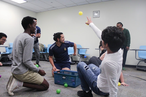 'Trinity Ball' was an activity played on campus to better understand the values of interdependence, mutual prosperity, and universally shared values.