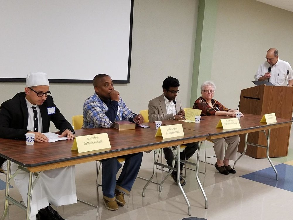 Four different faith traditions were represented at the Interfaith Forum at UB on Oct. 29.
