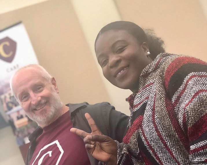 Dr. Barton (left) and Core Member, Sarafina Kisile (right), have a great time at CARP meetings.