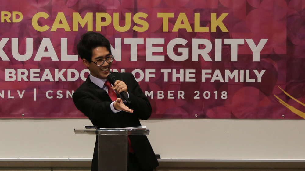 Ryota Naito, CARP CSN President and MC of the event.