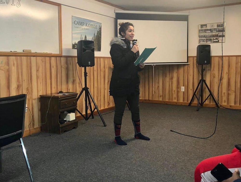 Monsterrat Guzman gave her testimony about CARP and the retreat.
