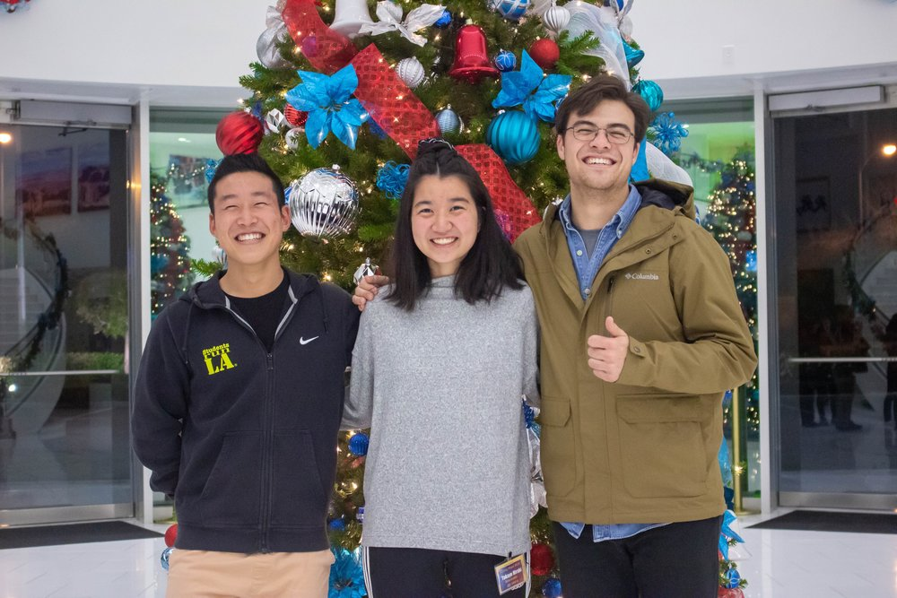 CARP LA leaders (left to right)  Kyosei Nagai, Takayo Hiraki, and Joshua Holmes take a commemorative photo for 2019.