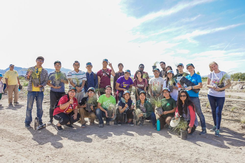 In October of 2018, Shine City Project and Generation Peace Academy worked together to help re-vegetate an area of Wetlands Park with some native grass.