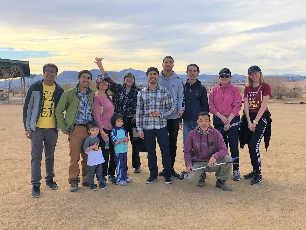 Shine City Project volunteers at a service project at Wetlands Park earlier in January. Volunteers are welcome to invite and bring their families to experience the joy of service together.