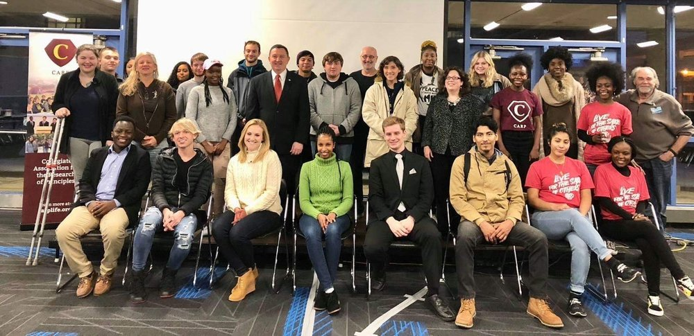 CARP Grand Rapids brought over 40 students and faculty to their  Peace Starts With Me  Conference in Fall 2018.