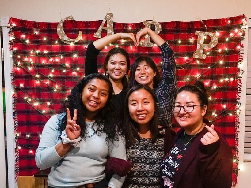 Mia (back right) with the CARP LV sisters during their End of Year Party.